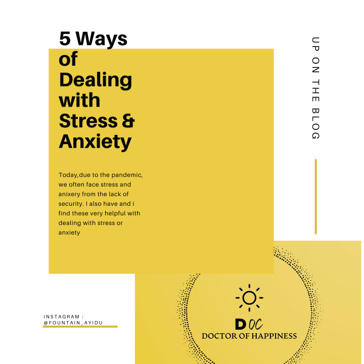 Tips on dealing with stress or anxiety